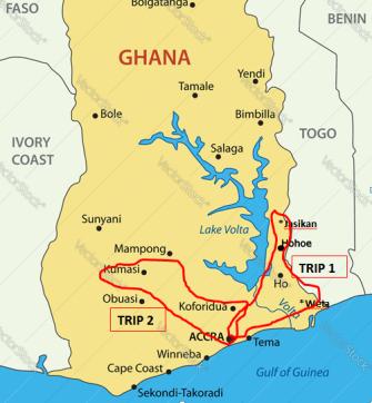 Ghana map trips 1-2